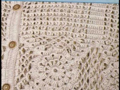 Blusa calado y cuadros a crochet
