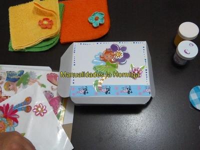 Cajas de carton decoradas con cintas para accesorios, regalos no, 324 Manualidadeslahormiga