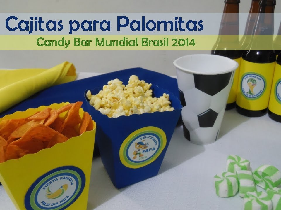 CAJITAS PARA PALOMITAS. Temática Mundial Brasil 2014