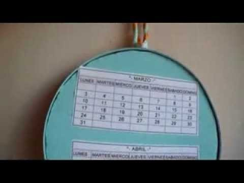 Calendario circular ecológico (recycled circular calendar)