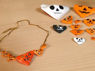 Collar de Halloween de Papel Super Facil y Barato