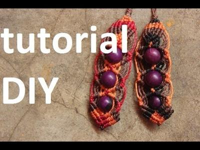Como hacer aros macrame con cuentas o semillas | earrings macrame