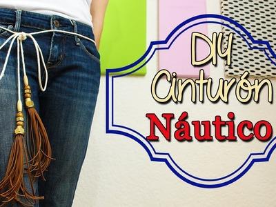 Cómo hacer Cinturón Fácil - Estilo Náutico - DIY