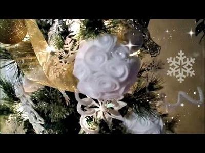 Como hacer Esferas Navidenas Facil!!!