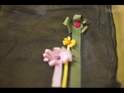 Cómo hacer sencillas flores con cinta
