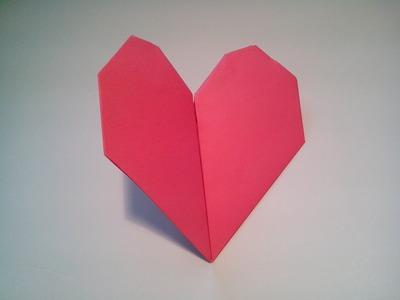 Como hacer un corazon de papel que late (facil)