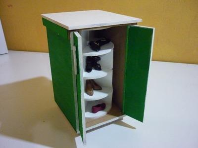 Como hacer un mueble giratorio de zapatos para muñecas Parte 1