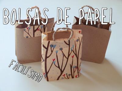 Cómo hacer una bolsa de papel ¡Muy fácil!