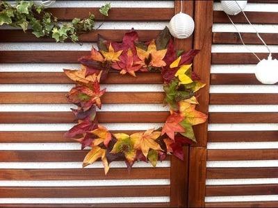 Cómo hacer una corona otoñal de hojas secas