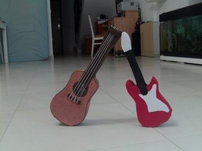 Como hacer una Guitarra Española con carton
