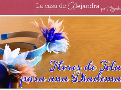 Como hacer unas flores de tela para una diadema DIY Alejandra Coghan