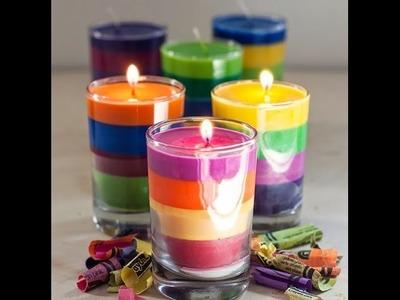Cómo hacer Velas con Crayones Crayolas \dye candles with crayons