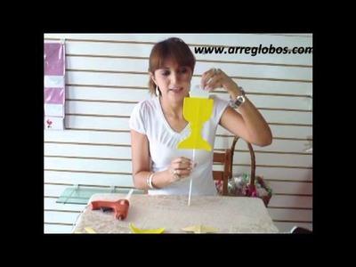 Copa de foamy para primera comunion  www.arreglobos.com
