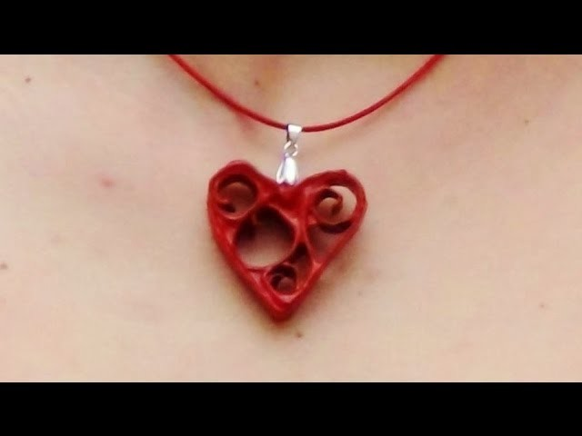 Corazones con rollos de cartón de papel higiénico. How to make a necklace with toilet rolls