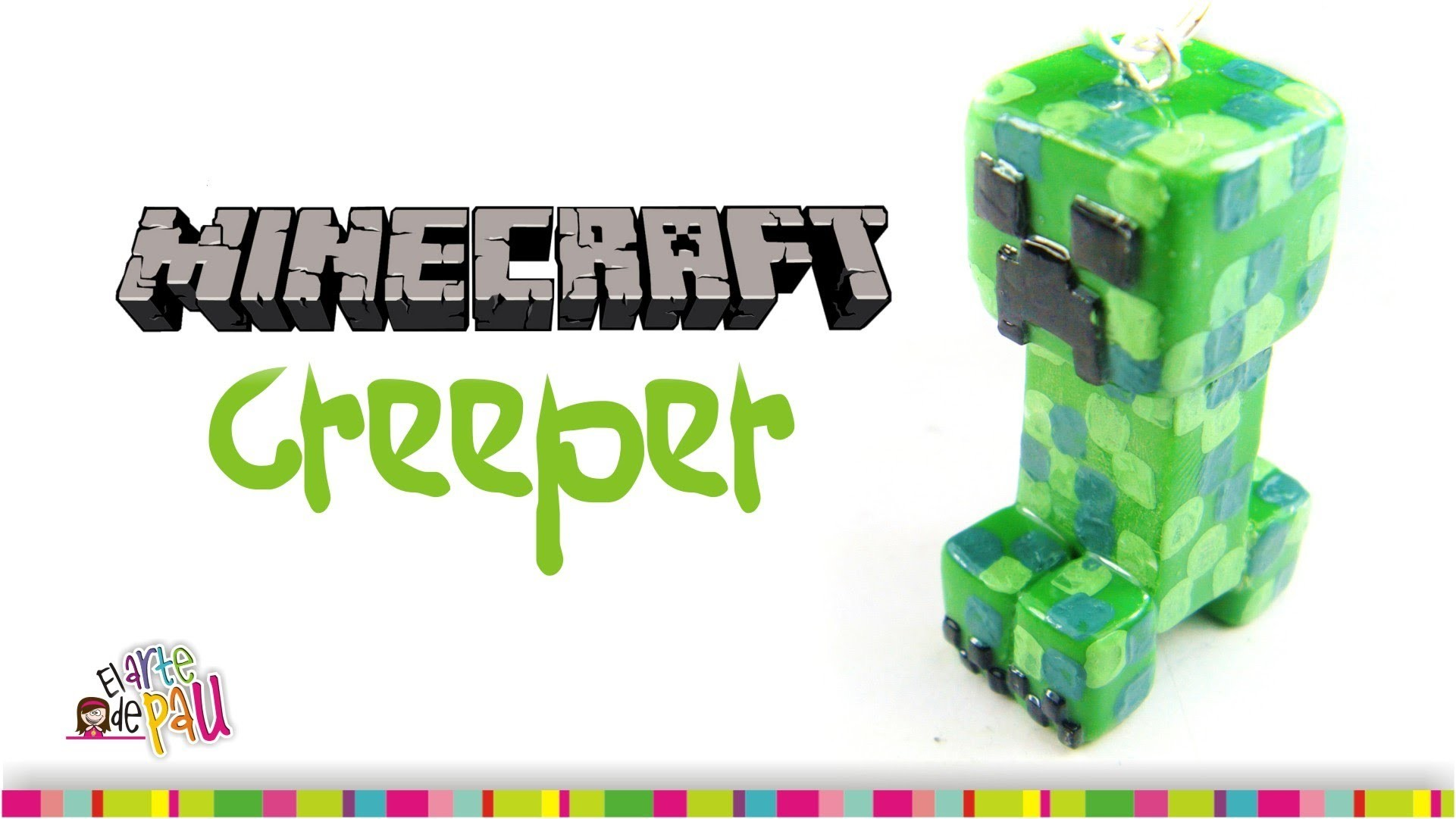 CREEPER Minecraft Polymer Clay tutorial. Creeper de arcilla polimérica