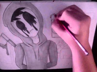 Dibujando creepypastas con JAJEM #3: EYELESS JACK. Drawing eyeless jack