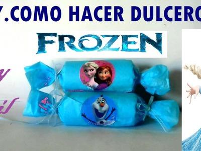 DIY.COMO HACER DULCERO FROZEN FACIL Y ECONOMICO