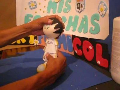 Fofucho Futbolista Real Madrid muñecos en foami Goma-eva Termoformados (Foamy dolls)Artfoamicol