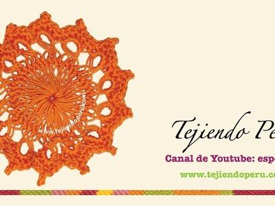 Horquilla (hairpin lace): cómo tejer un motivo circular (# 5)