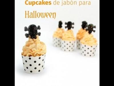 Manualidades de Halloween: Jabón de cupcake con Calaveras.