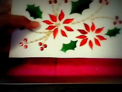 Manualidades   Navideñas tarjetas  bordadas
