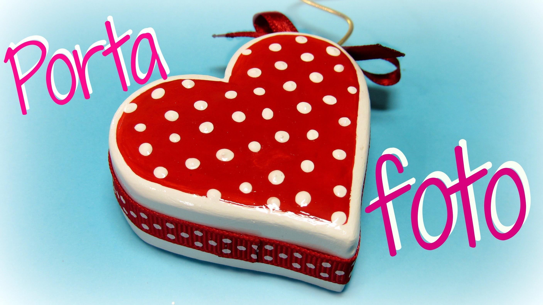 Manualidades San Valentin: Cómo hacer un porta foto corazón. Heart photo holder.