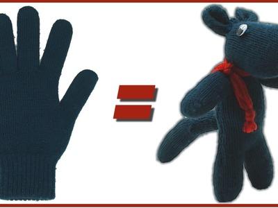 Muñeco con un guante, cómo se hace