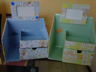 Novedades: Organizador hecho de cartón para bebés. ♥