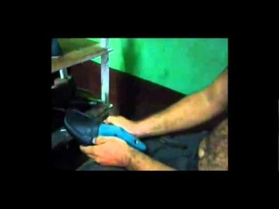 Proceso del calzado. hecho a mano