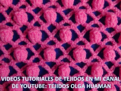 Punto piña tejido a crochet