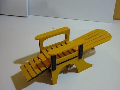 Silla reclinable para muñecas, parte 2