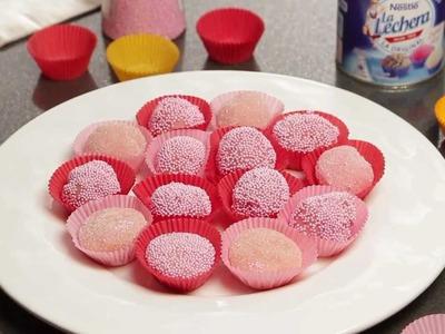 Trufas rosas con leche condensada la Lechera - Recetas rápidas Nestlé