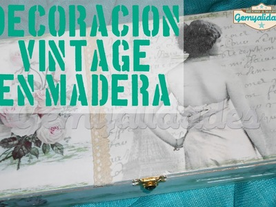 Tutorial DIY: Decapado, decoupage y decoración vintage
