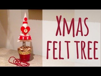 XMAS SERIES's 14: Felt christmas tree - Arbol navideño de fieltro