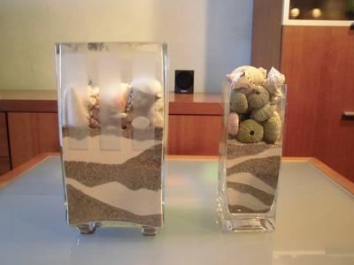 Adornar un tarro de cristal con motivos marinos de JM-QJ