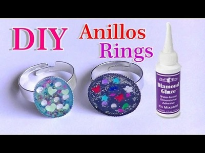 Anillos con Diamond glaze DIY Rings
