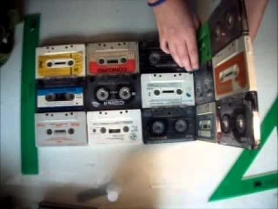 Art Attack!! - Lampara con cassettes