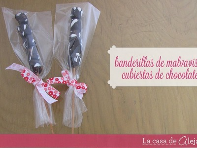 Banderillas de malvavisco con chocolate - DIY Chocolate-covered marshmallow