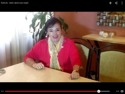 Bufanda - tejido rápido para regalo - Tejiendo con Laura Cepeda