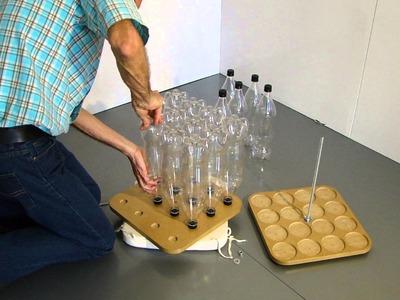 Butaco con botellas, pet, hágalo usted mismo, eco diseño, reciclaje, reuso, butaca