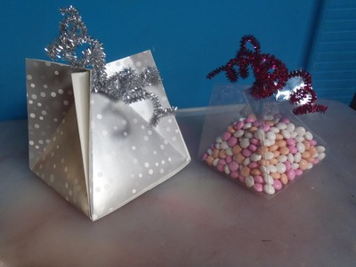Caja triangular facil para pequeños regalos