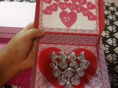 Calendario de amor con mensaje secreto | Manualidades de amor regalos originales