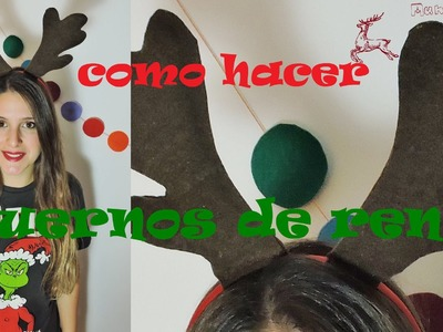 CHRISTMAS DIY - Como hacer cuernos de reno - How to make reindeer horn