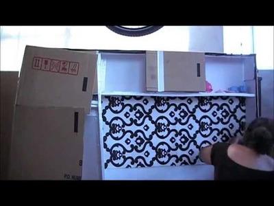 Cocinita hecha con una caja de cartón. Primera parte [Carlu2013]
