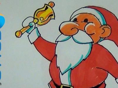 Cómo dibujar un Santa Claus sencillo y rápido