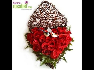 Como hacer arreglos florales paso a paso con Floeria Rosabel