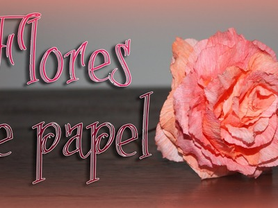 Como hacer.  flores de papel!