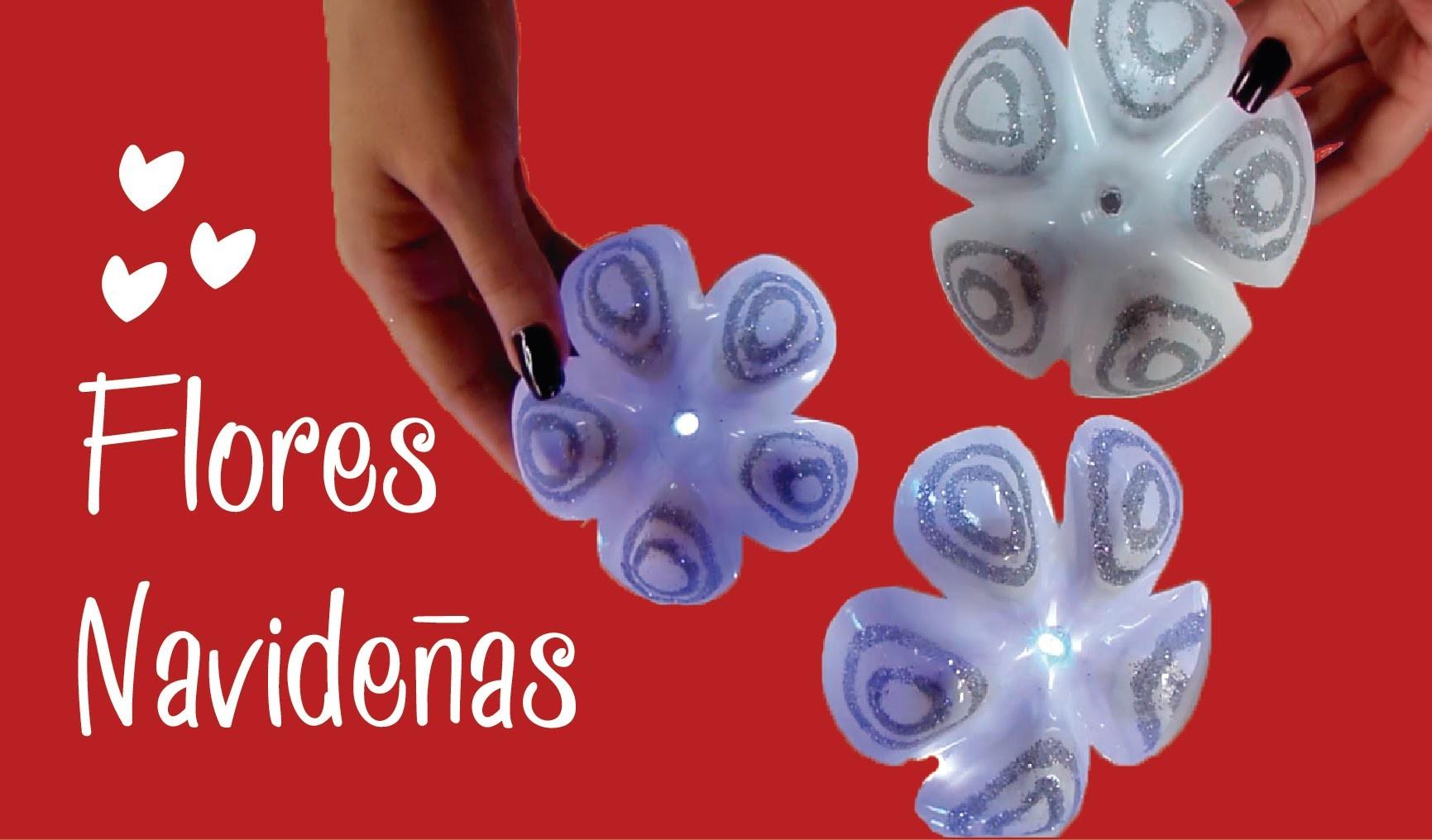 Cómo hacer Flores Navideñas con Botellas - Naila Londoño