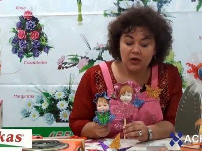 Cómo hacer Frutas y Fofuchos con Moldes para hacer Flores de Foami HD Parte 3