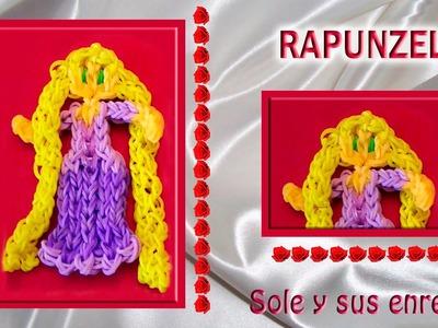 Cómo hacer la Princesa Rapunzel  con gomitas elásticas (serie princesas). Faixas. Loom